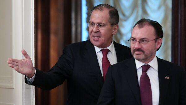 El canciller de Rusia, Serguéi Lavrov y el canciller de México, Luis Videgaray - Sputnik Mundo