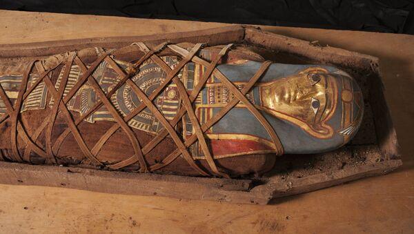La momia descubierta en el oasis de El Fayum, Egipto - Sputnik Mundo