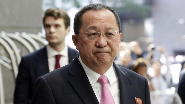 Ri Yong-ho, ministro de Asuntos Exteriores de Corea del Norte - Sputnik Mundo