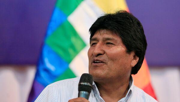 El presidente de Bolivia, Evo Morales, durante la apertura del IV Foro de Países Exportadores de Gas - Sputnik Mundo