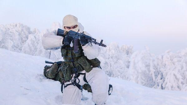 Un soldado de la la Infantería Naval de Rusia - Sputnik Mundo