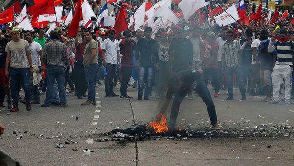 Protestas en Honduras (Archivo) - Sputnik Mundo