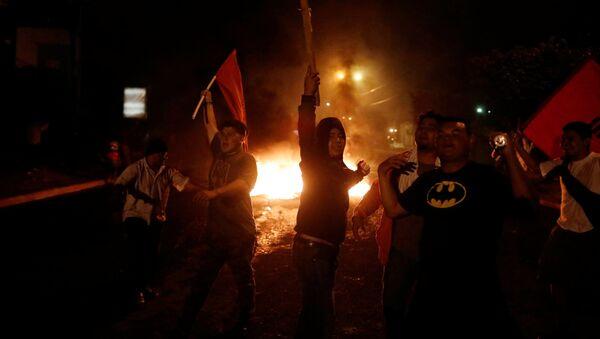 Protestas en Tegucigalpa, la capital de Honduras - Sputnik Mundo