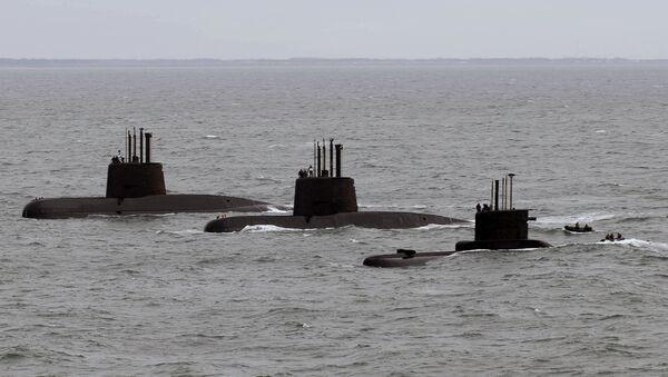 Submarinos argentinos ARA San Juan, ARA Salta y ARA Santa Cruz (archivo) - Sputnik Mundo