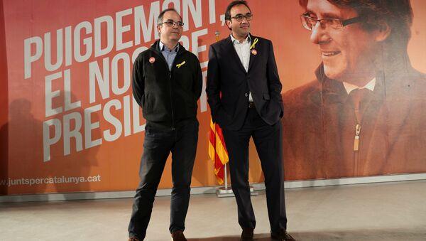 Jordi Turull, portavoz del cesado Gobierno catalán, y Josep Rull, exconsejero de Territorio - Sputnik Mundo