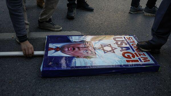 Protestas en Estambul por la decisión de Donald Trump sobre Jerusalén - Sputnik Mundo
