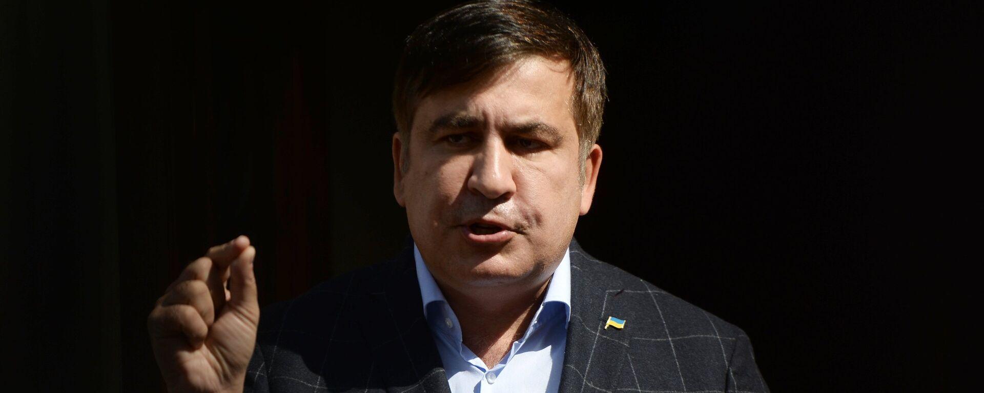 Пресс-конференция Михаила Саакашвили во Львове - Sputnik Mundo, 1920, 02.10.2021