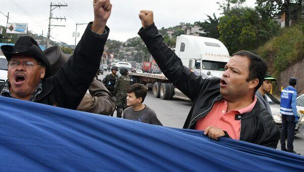 Protestas de Honduras - Sputnik Mundo