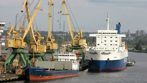 El puerto de Riga, Letonia - Sputnik Mundo