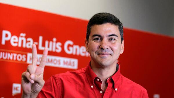 Santiago Peña, candidato a la presidencia de Paraguay - Sputnik Mundo