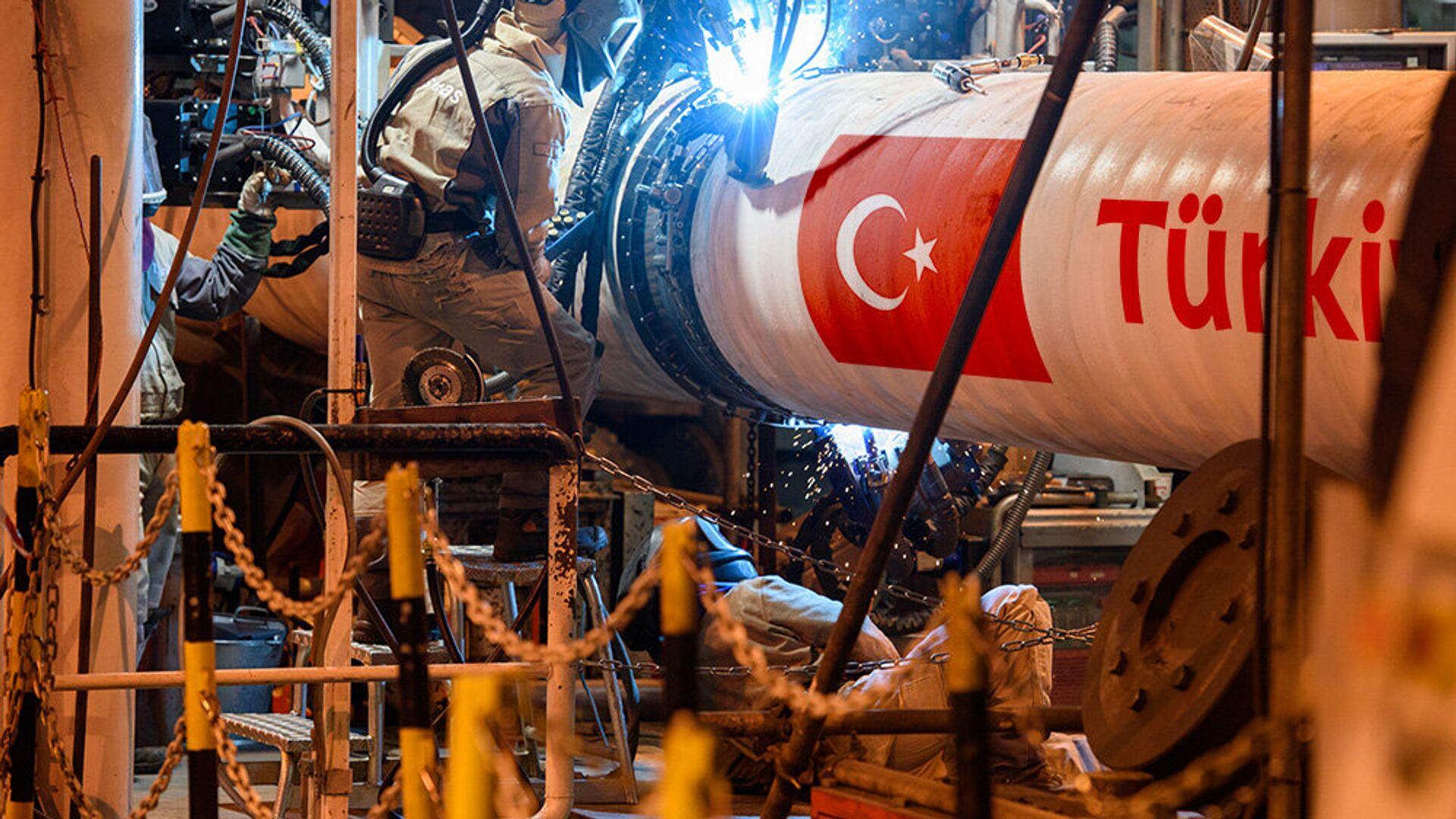 La construcción del gasoducto Turk Stream - Sputnik Mundo, 1920, 17.03.2021