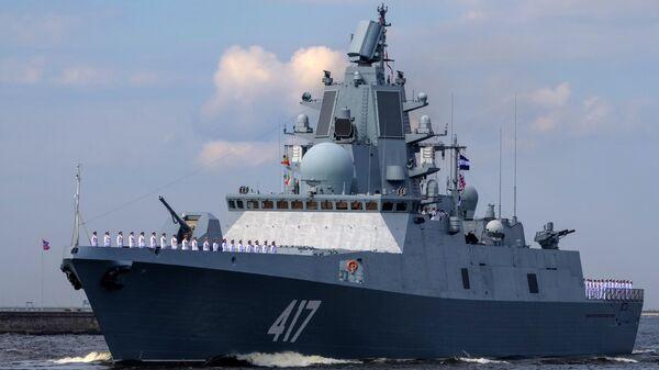 La fragata rusa Almirante Gorshkov es uno de los buques más modernos de la Armada de Rusia - Sputnik Mundo