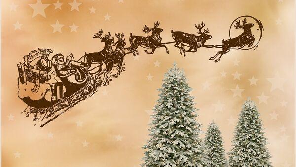 Papá Noel con sus renos (imagen ilustrativa) - Sputnik Mundo