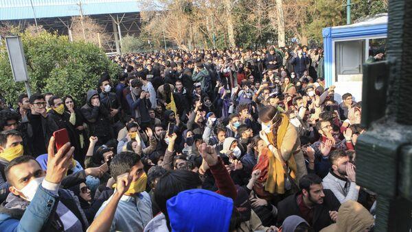Las protestas en Irán - Sputnik Mundo