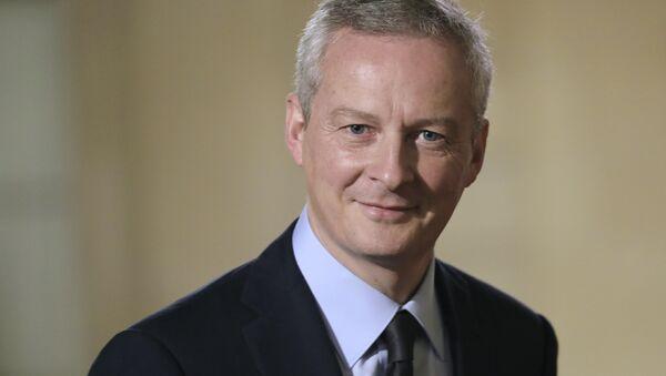 El ministro de Economía y Finanzas francés, Bruno Le Maire - Sputnik Mundo