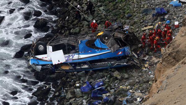 Lugar del accidente en Perú - Sputnik Mundo