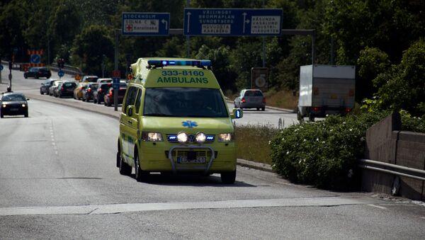 Ambulancia sueca (imagen referencial) - Sputnik Mundo