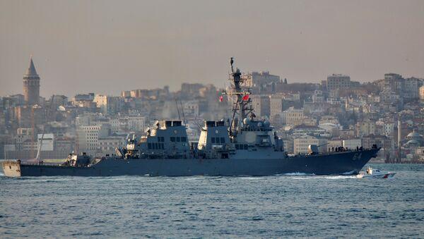 El destructor estadounidense USS Carney (DDG-64) - Sputnik Mundo