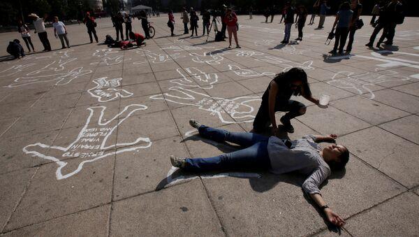 Una protesta contra la violencia y las muertes en México - Sputnik Mundo