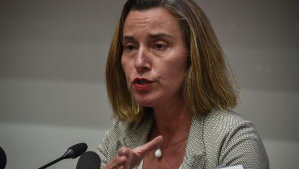Federica Mogherini, la alta representante de la Unión Europea (UE) para Asuntos Exteriores y Política de Seguridad - Sputnik Mundo
