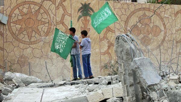 Las banderas de Hamás - Sputnik Mundo