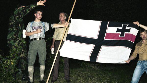 Militantes del movimiento Ciudadanos del Reich (archivo) - Sputnik Mundo