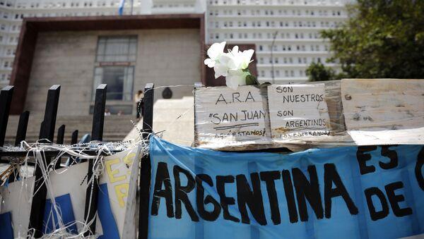 Las palabras de apoyo tras la desapación del submarino argentino ARA San Juan (archivo) - Sputnik Mundo