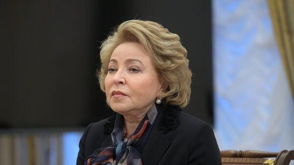 Valentina Matvienko, presidenta del Consejo de la Federación (Senado) ruso - Sputnik Mundo