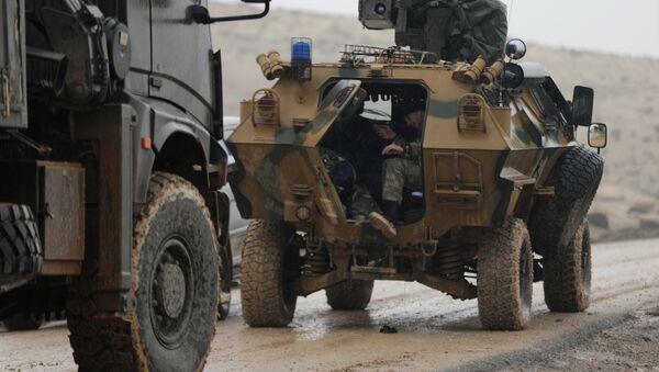 Fuerzas turcas cerca de Afrín, Siria - Sputnik Mundo