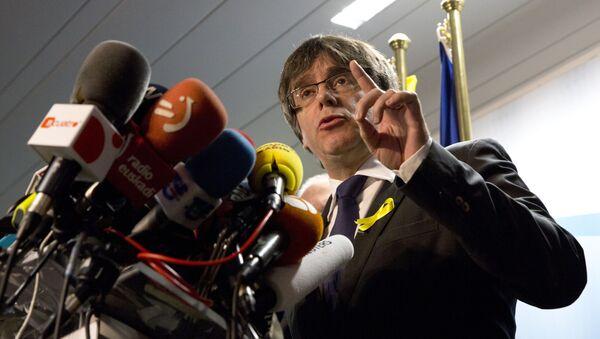 Carles Puigdemont, el expresidente del gobierno de Cataluña - Sputnik Mundo