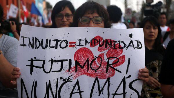 Protestas contra el indulto al expresidente de Perú, Alberto Fujimori (archivo) - Sputnik Mundo
