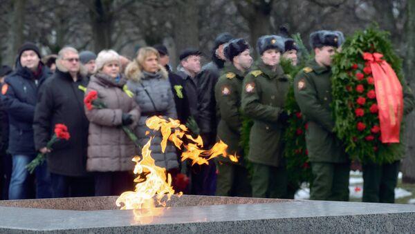El evento conmemorativo dedicado a la ruptura del bloqueo a Leningrado - Sputnik Mundo