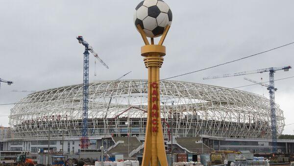 La construcción del estadio Mordovia Arena - Sputnik Mundo