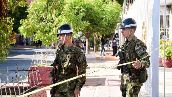 Lugar del atentado en Barranquilla, Colombia - Sputnik Mundo