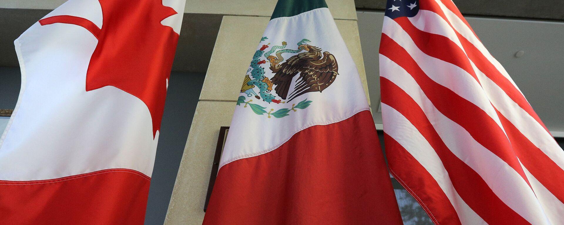 Las banderas de Canadá, México y EEUU - Sputnik Mundo, 1920, 25.09.2021