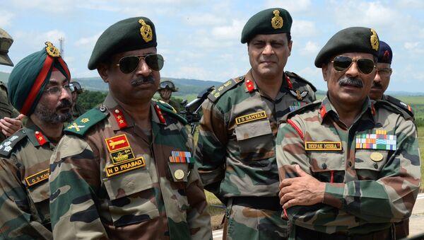 Militares indios durante su visita a Rusia, foto de archivo - Sputnik Mundo