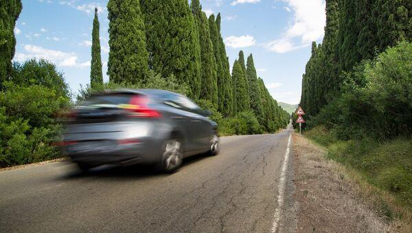 Un coche en la carretera (emagen referencial) - Sputnik Mundo