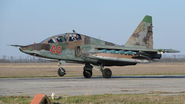 Avión de asalto ruso Su-25 que regresó de Siria - Sputnik Mundo