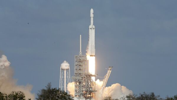 Lanzamiento del cohete Falcon Heavy - Sputnik Mundo