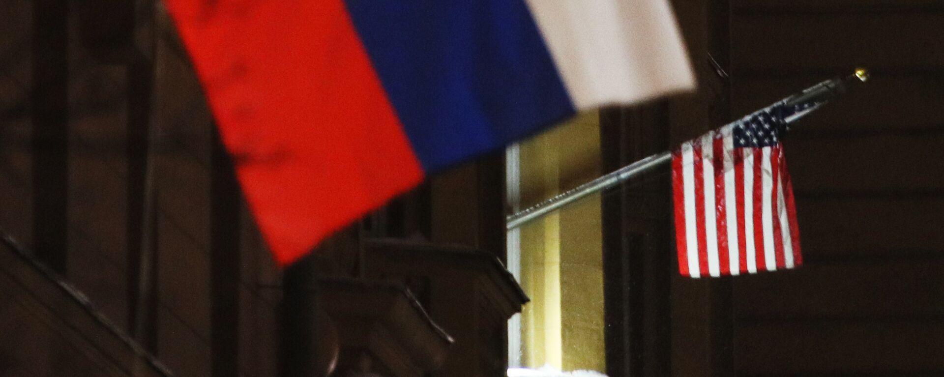 Banderas de Rusia y EEUU - Sputnik Mundo, 1920, 24.03.2021