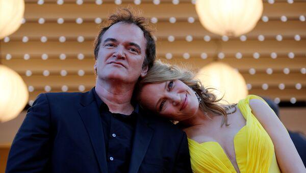 Quentin Tarantino, director del cine, y Uma Thurman, actriz - Sputnik Mundo