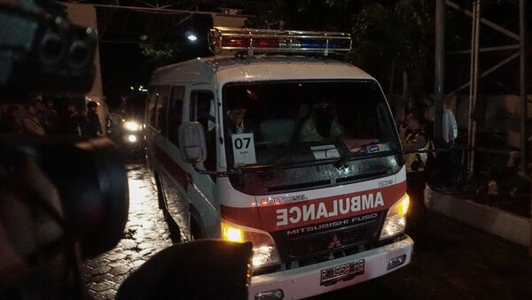 Ambulancia en Indonesia (archivo) - Sputnik Mundo