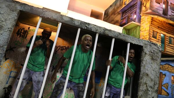 La escuela de samba Beija Flor durante el carnaval en Río de Janeiro, Brasil - Sputnik Mundo