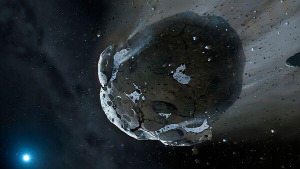 Un asteroide, imagen de un artista - Sputnik Mundo