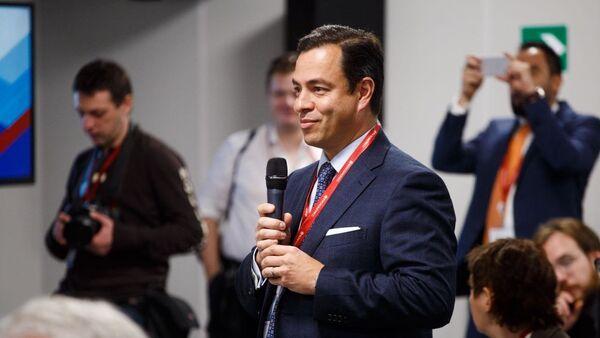 Paulo Carreño King, el jefe de ProMéxico, durante su intervención en el Foro de Inversiones de Sochi el 15 de febrero de 2018 - Sputnik Mundo