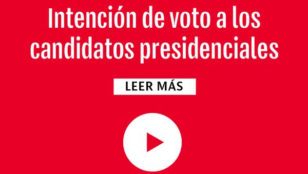Intención de votos a los candidatos presidenciales - Sputnik Mundo