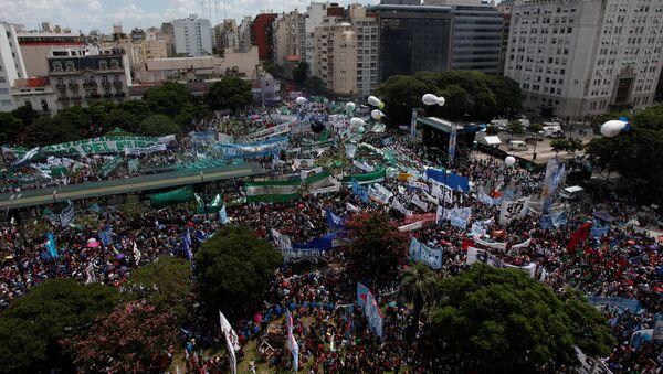 Protesta en Buenos Aires, Argentina - Sputnik Mundo