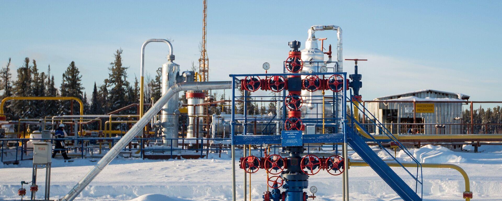 Un pozo de gas de la compañía Gazprom - Sputnik Mundo, 1920, 01.03.2021