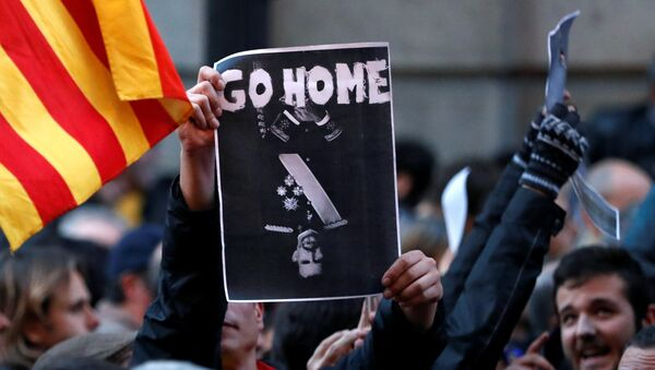 Protestas en Barcelona - Sputnik Mundo