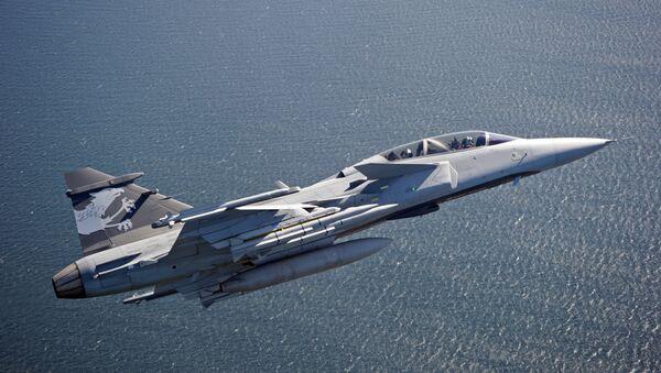 El caza sueco Gripen E - Sputnik Mundo